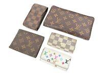 Auth LOUIS VUITTON Canvas Wallet Case Key Holder 5pc Set #35146