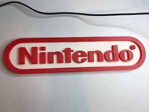 Large Nintendo 3D Printed Free Standing Plaque Sign Logo