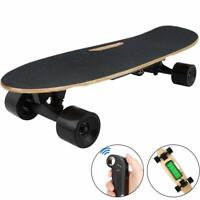 Electric Skateboard w/ Remote Control for Adults 7 Layers Maple Longboard 12 MPH