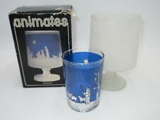 Vtg Le Smith Usa 2 pc Animates Nativity Glass Candle Holder Christmas