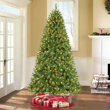 Holiday Time 7.5' Pre-lit Clear lights Kennedy Fir Artificial Christmas Tree