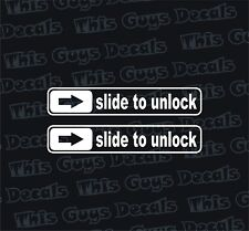 X2 Slide to unlock door handle sticker funny jdm decal turbo window drifting