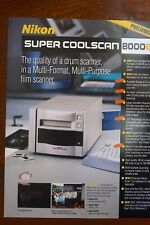 New original Nikon brochure for CoolScan 8000 ED Slide & Film Scanner Hasselblad
