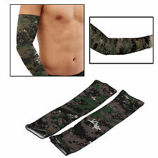 1 pair Cool Athletic Sport Golf Skins Arm Sleeves Sun Protective UV Cover Camo