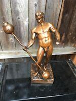 Eugen Sandow Bronze statue Bodybuilding trophy Antique Mr Olympia nude physical