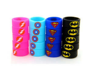 Marvel Superhero Silicone Rings 1 Pack x2 Ring/Band Kids Finger Ring Collectable