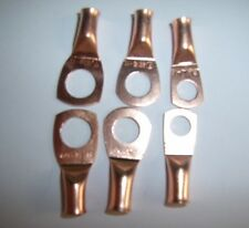 """(6) 3/8"""" 5/16"""" 1/4""""Wire Ring Terminal Copper 8 AWG Gauge Connectors Terminals"""