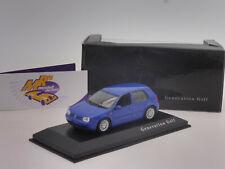 "Minichamps colección # volkswagen golf generación en ""azul"" 1:43 rar!!!"