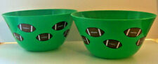 """New listing 2 Snack Bowls for All Sporting Game Parties 11"""" Across Top - 5 1/2"""" deep"""