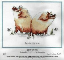 Lean on Me Cross Stitch Kit by Judy Rossouul JR01 Anchor with Thread 2 Pigs