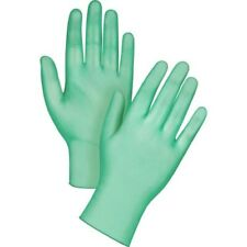 Green Disposable Powdered Vinyl Safety Gloves Latex Nitrile Free SMALL