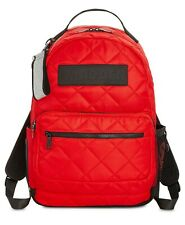 Steve Madden Austin Red Quilted Nylon Backpack