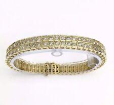 "Not Enhanced Yellow Gold Fine Diamond Bracelets 7.5 - 7.99"" Length"