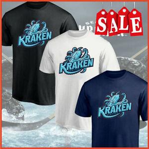 HOT!!! Men's Seattle Kraken New NHL Team T-Shirt Black, White, Navy S-5XL