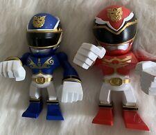 2012 Touma Power Ranger Mega Force Bandai Tokyo Vinyl Blue & Red Dragon Rangers