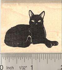 Very Black Cat Rubber Stamp G10614 WM