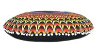 "28"" Multi Handmade Floor Pillow Cover Hippie Round Seating Cushion Covers Throw"