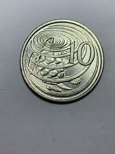 1996 Cayman Islands 10 Cents Coin with Green Sea Turtle KM-3