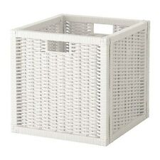 Ikea White Branas Box Storage Organizer Basket Fit to Kallax BRANÄS 201.927.29