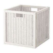 Ikea White Branas Box Storage Organizer Basket Fit to Kallax BRANÄS 201.927.29