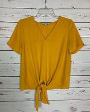 Madewell Women's Sz XXS Extra Extra Small Yellow Short Sleeve Summer Blouse Top