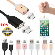 1M 2M Magnetic LED USB Plug Charging Charger Cable for iPhone 5S 6 6S 7 Plus Lot