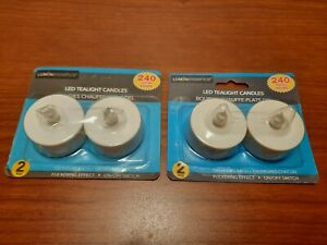 Lot of 2. Luminescence Led Tealight Candles with Flickering Effect  2 PK,