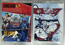 2 Pack NHL SEALED 2017 WINTER CLASSIC GAME PROGRAM BLACKHAWKS VS ST LOUIS BLUES