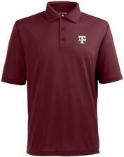 NWT Texas A&M Pique Polyester Performance Polo Antigua Mens Large Maroon