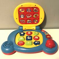 Vtech Baby's Laptop Light Up Screen Interactive Sounds Shapes Chunky Buttons