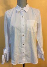 Michael Kors Ladies White Button Down Blouse Size Medium