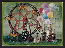 1969 Hallmark old Ferris Wheel mechanical Toys continental postcard