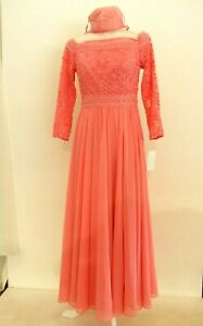 coral special occasion/mother of the bride size 8 by Veni Infantino