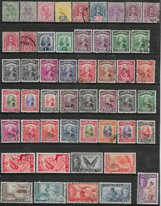 SARAWAK SELECTION OF 50 MINT/USED STAMPS ON STOCKSHEET