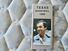 1979-80 TEXAS LONGHORNS BASKETBALL MEDIA GUIDE Yearbook ABE LEMONS 1980 Book AD