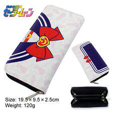 Cosplay Anime Sailor Moon Bow  leather Long wallet purse Coin purse bag