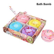 Donuts Bath Bombs Ball Natural Sea Salt Lavender Bubble Essential Body Scrub