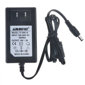 US DC 16V 2A 2000mA 5.5mmx2.5mm Center Positive Adapter Charger Power Supply PSU