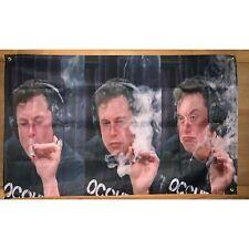 New listing Elon Musk Smoking Weed Joint Joe Rogan 3 x 5 Feet Flag College Banner