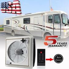 14'' RV Roof Fan 12V Exhaust Vent Fantastic Camper Trailer Automatic Rain Sensor