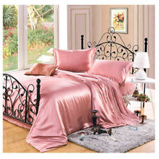 New 100% Pure Mulberry Silk Bedding Set 3PCS Silk Duvet Cover Pillowcase Plain