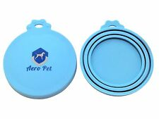 Aero Pet | 2 Pack | Universal BPA Free Silicone Pet Food Can Lid Covers | One