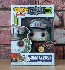 BEETLEJUICE GLOW LIMITED EXCLUSIVE GUIDE HAT FUNKO POP GITD #605 BRAND NEW UK