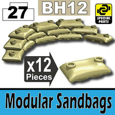 BH12-3 (W231) Army Modular Sandbags compatible with toy brick minifigures Tan