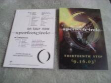 Rare Promo A Perfect Circle 1x Sticker Thirteenth Step Puscifer Tool cd lp tour