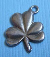 Vintage 40's clover sterling charm