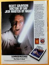 1983 Magazine Print Ad Parker Brothers Video Games Scott Grayson Star Wars Jedi