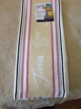 FIESTA KITCHEN TOWEL STRIPE IVORY (1)  NWT