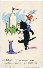 CHAT NOIR. BLACK CAT. EXPOSITION. EXHIBITION