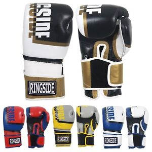 Ringside Omega Leather Boxing & Kick KickBoxing  Sparring Training Bag Gloves